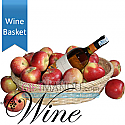 Sweet White Wine in Apple Basket