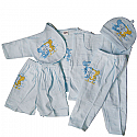 Baby Clothes Set For New Born Baby (6 items) - Blue