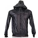Black Full Sleeves Polyester Windcheater (L)