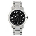 Titan Steel Case Black Dial Analog Watch for Men (1730SM02)