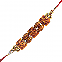 Ganesh Rakhi - Ganesh Ji Decorated Design