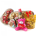 Assorted Chocolate Boxes with Love Teddy Bear