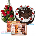 Sweets Assortment, Five Star Cake and Flower Bunch