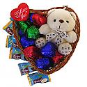 Cute Heart Basket Full Of Sweetness And Love