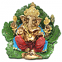 Hand Painted God Ganesha Resin Idol - 5.5 inches