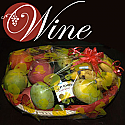Fruit basket with Red Wine from Spain
