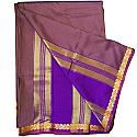 Banglore Chiffon Saree - Pale Purple With Golden Border