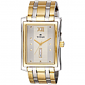 Titan Brass Case White Dial Analog Watch for Men (90023BM03)